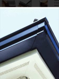 Aluminium guttering corner piece